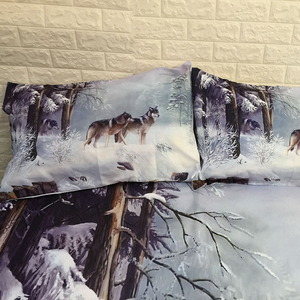 Image 3 - Snow Wolf Duvet Cover Bedding Set Bed Sheet Twin Full Queen King Size 3PCS