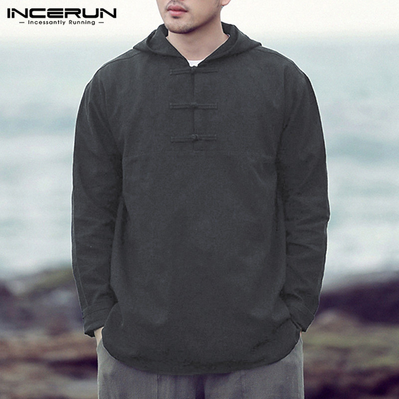 2018 New Fashion Men's Tshirts Cotton Long Sleeve Autumn Spring Tee Men's Hoodies Basic Solid Pullover Loose Hombre Men Clothes