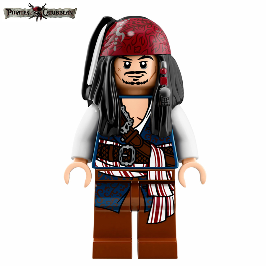 Single Sale Movie Pirates of the Caribbean Captain Jack Sparrow Action Figures Building Blocks minifig Kids Toys Gifts hot classic movie pirates of the caribbean imperial warships building block model mini army figures lepins bricks 10210 toys