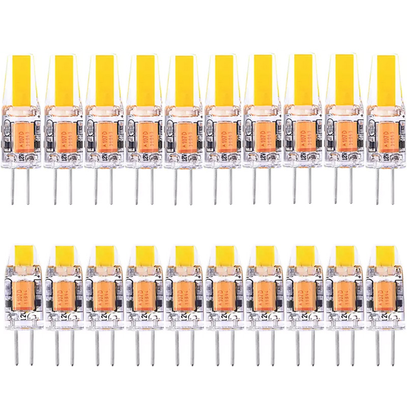 10pcs/lot G4 LED Lamp  AC/DC 12V 3W 6W LED Mini G4 COB LED Bulb 360 Beam Angle Chandelier Lamps Replace Halogen Light
