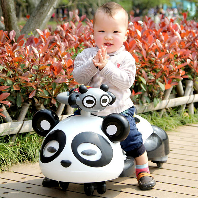 childrend panda swing car children go-go car,twist car for Kids ride on cars