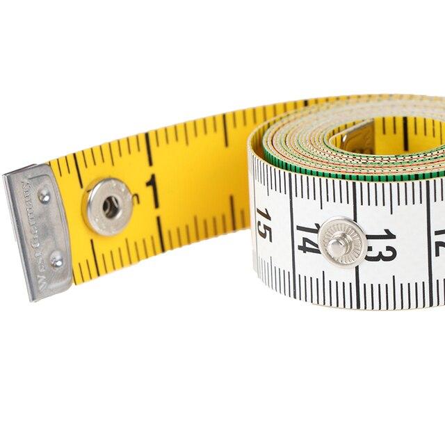 1pcs 60in 단추 재단사 측정 테이프 바느질 도구 플랫 테이프 150cm 바디 측정 도구