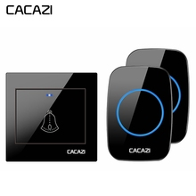 CACAZI Wireless Doorbell Waterproof 300M Remote 1 2 Battery Button 1 2 3 Receive