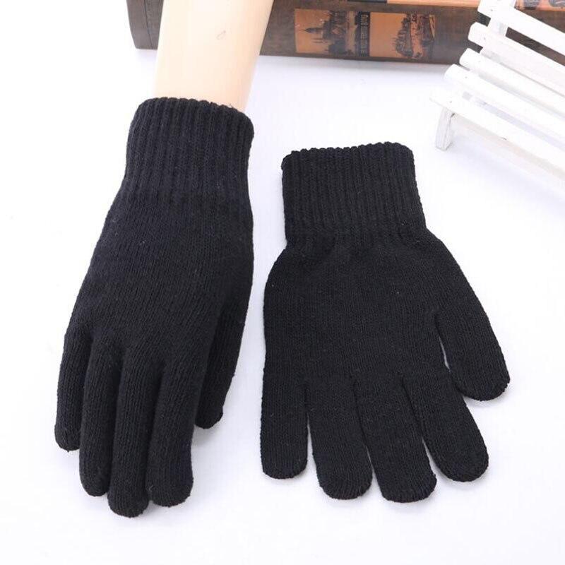 SUOGRY Men Gloves Knitted Anti-Slip High Quality Thicken Warm Gloves Winter Autumn Women Mitten