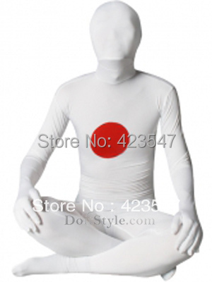 Japanese Flag Pattern Spandex Lycra Zentai Suit Halloween Party Costumes-Zentai