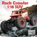 Rali 4WD 2.4 GHz Rastreadores de Rock RC Carro de Escalada 4x4 Motores Dobro Bigfoot Carro Modelo de Carro de Controle Remoto Off-Road Do Veículo de Brinquedo