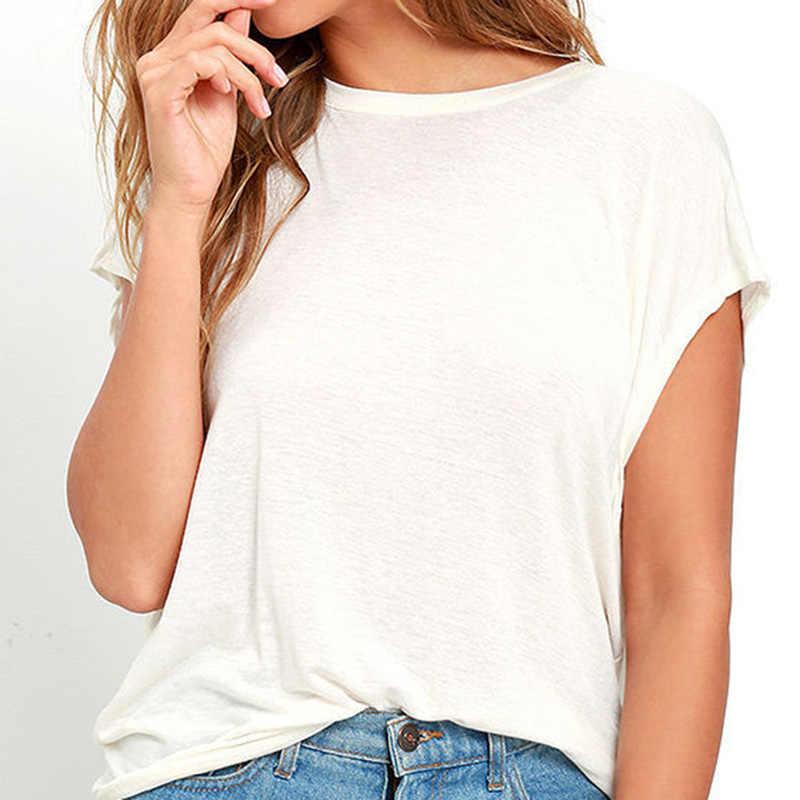 Fashion Open Back T Shirt Women Casual Backless Short Sleeve TShirt Summer Hot Clothing Loose O-neck Tops Tees Black white