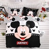 3D Cartoon Mickey Minnie Mouse Bedding Set Queen Size 100 Cotton Duvet Cover Sets Bed Sheet