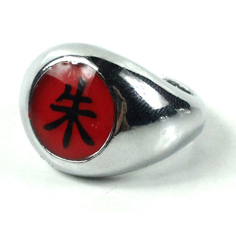 "HOT Anime Naruto Cosplay Ring Akatsuki Uchiha Itachi ""Shu"" Ring Costume Accessroy Gift"