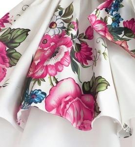 Image 5 - Bebek kız prenses elbise çiçek baskı düğün parti elbiseler çocuk giysileri robe fille vetement enfant fille 2 7T