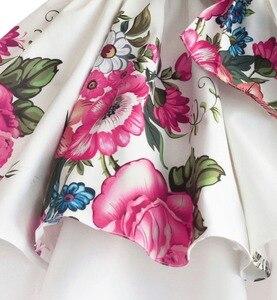 Image 5 - baby girls princess dress floral print wedding party dresses children clothes robe fille vetement enfant fille 2 7T