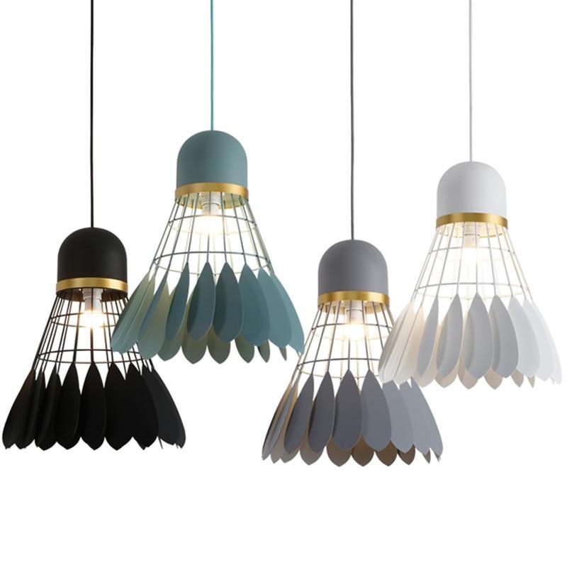 Ma long long bar, iron badminton chandelier, modern minimalist restaurant Chandelier iron ma page 7