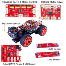 SunFounder PiCar-S Kit for Raspberry Pi 3/2/B+ Smart Robot Car Line Following Module Ultrasonic Sensor Electronic Toy