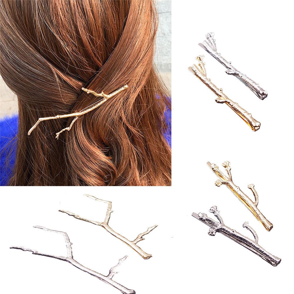 1 STÜCK Frauen Mädchen Metall Zweig Blätter Haarspangen Haarnadel Bobby Pin