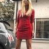 Free Shipping 2018 New Chic Elegant Rivet Embellished Long Sleeves Mini Celebrity Party Wear Women Wholesale