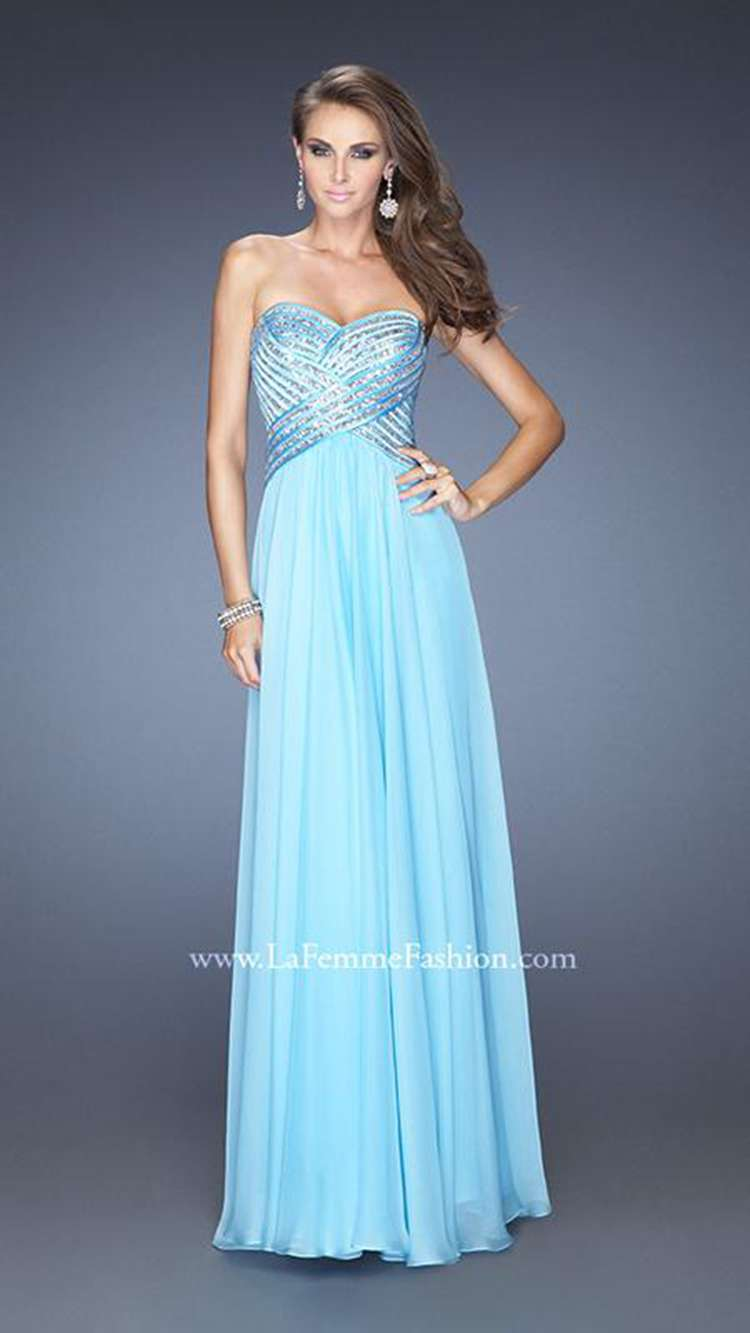 Long Prom Dresses 2015 Chiffon Dress For Party l A Line Sequins ...
