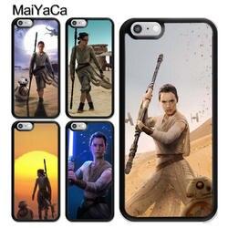 MaiYaCa Звездные войны Рей BB-8 робот фильм с мягкой резиновое покрытие для Apple iPhone X 8 7 6 6 S плюс 5 SE жесткий Пластик телефон случаях