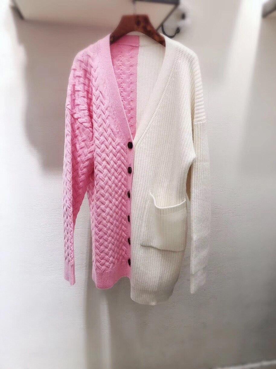 2018 Femmes Tricoté Mode De Multi Chandail Cardigan Colorblocked SUgPSwHOxq