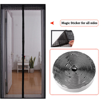 Mãos livres porta de tela macia magnética mosquito net fios de poliéster cortina de porta anti inseto voar porta de tela magnética