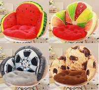 Lovely Fruit Wheel Biscuit Chair Cushion Home Decor Office Thicken Seat Pad Car Home Decorative Pillow Car Seat 55x45x40cm B328