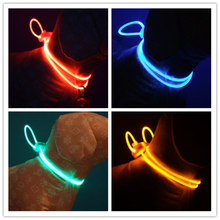Pet Dog Collar High Quality LED Light Bright Accessories Decorate Lead for Dogs Cats
