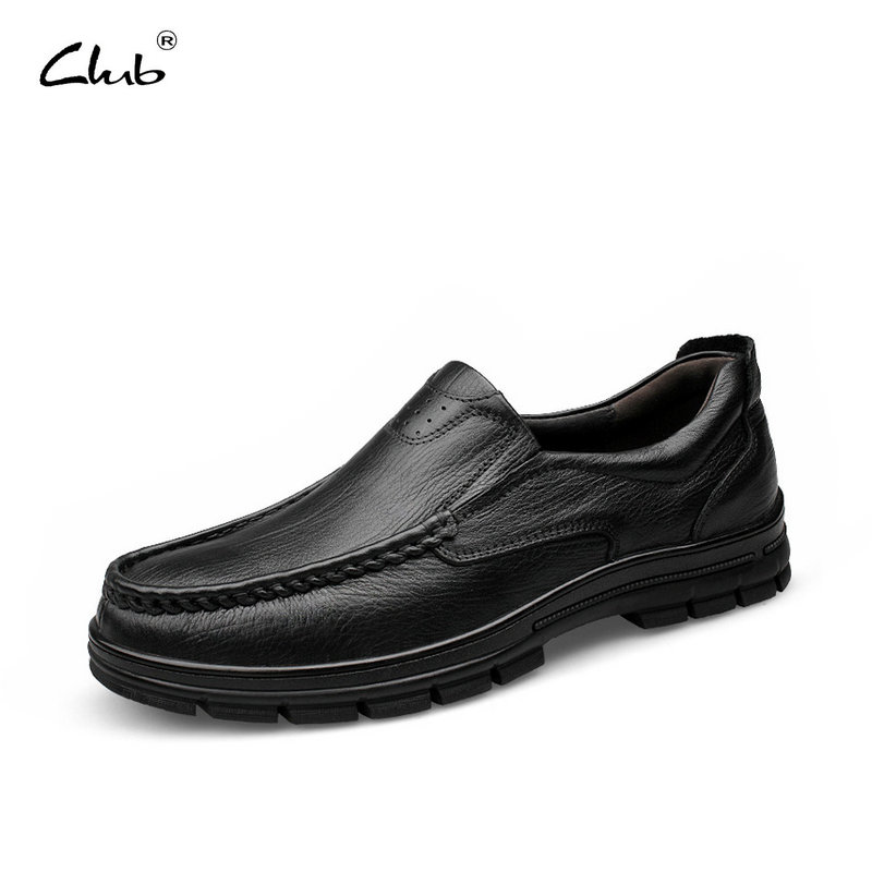Club 2017 New Casual Oxfords Flats Brand Men Genuine Leather Loafers Shoes Handmade Moccasins Shoes Mens Shoes Large Sizes 38-47 dxkzmcm new men flats cow genuine leather slip on casual shoes men loafers moccasins sapatos men oxfords