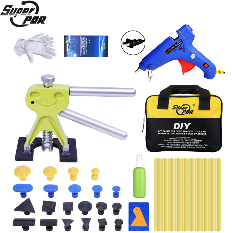 Super PDR Paintless Dent Repair Tools Auto Dent Puller Suction Cup Glue Tabs Hot Adhesive Glue Sticks For Hot Melt Glue Gun Sets super pdr tools dent removal kit for car dent puller suction cup glue sticks for hot melt glue gun line board pump wedge air bag