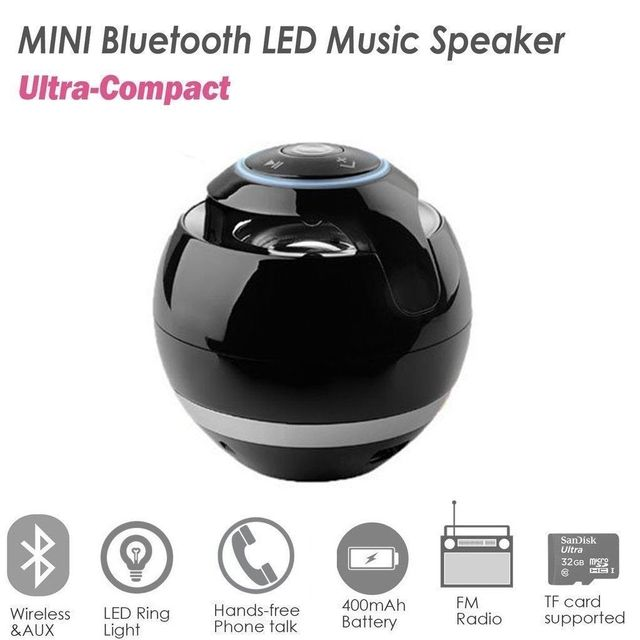 Bluetooth Mini Speaker Receiver Boombox FM Radio Portable -Amplifier MP3 Subwoofer With Mic Loudspeaker