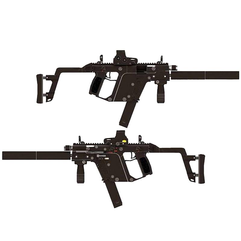 DIY 1:1 KRISS Super V Rifle Gun Paper Model Assemble Hand Work 3D Puzzle Game Kids Toy