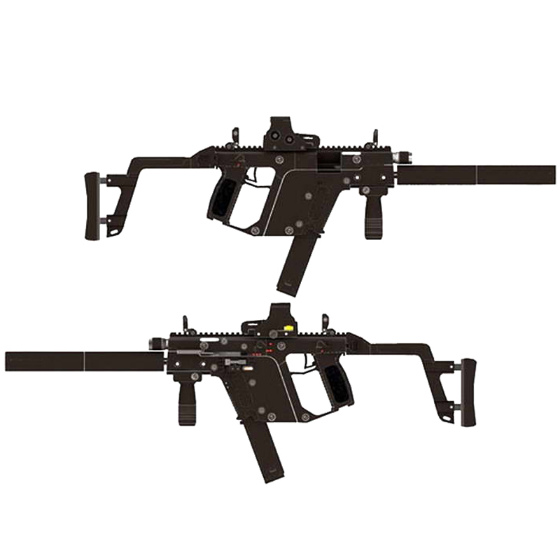 DIY 1:1 KRISS Super V Rifle Gun Paper Model Assemble Hand Work 3D Puzzle Game Kids Toy