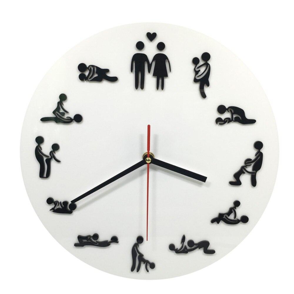 1 Pièce Kama Sutra Sex Position Horloge 24 Heures Sexe Horloge Nouveauté Horloge Murale Faire L'amour Horloge Cadeau De Mariage