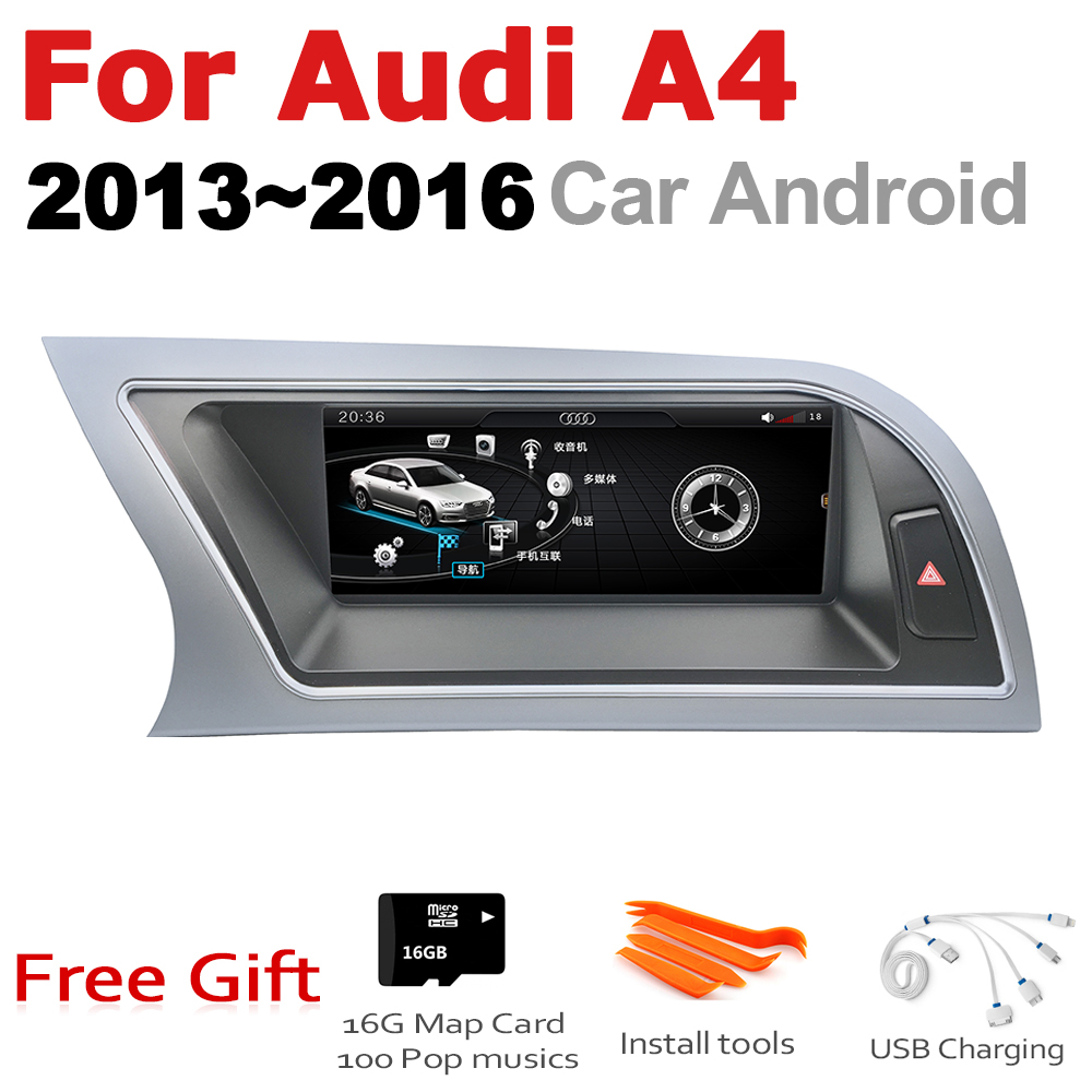 Android 7.0 up Car Multimedia player For <font><b>Audi</b></font> <font><b>A4</b></font> 8K 2013~2016 <font><b>MMI</b></font> WiFi GPS Navi Map Stereo Bluetooth 1080p IPS <font><b>Screen</b></font> image