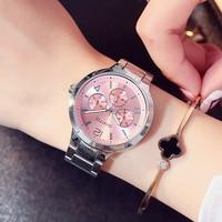 GIMTO Brand Dress Women Watches Steel Luxury Rose Gold Bracelet Wristwatch Clock Business Quartz Ladies Watch