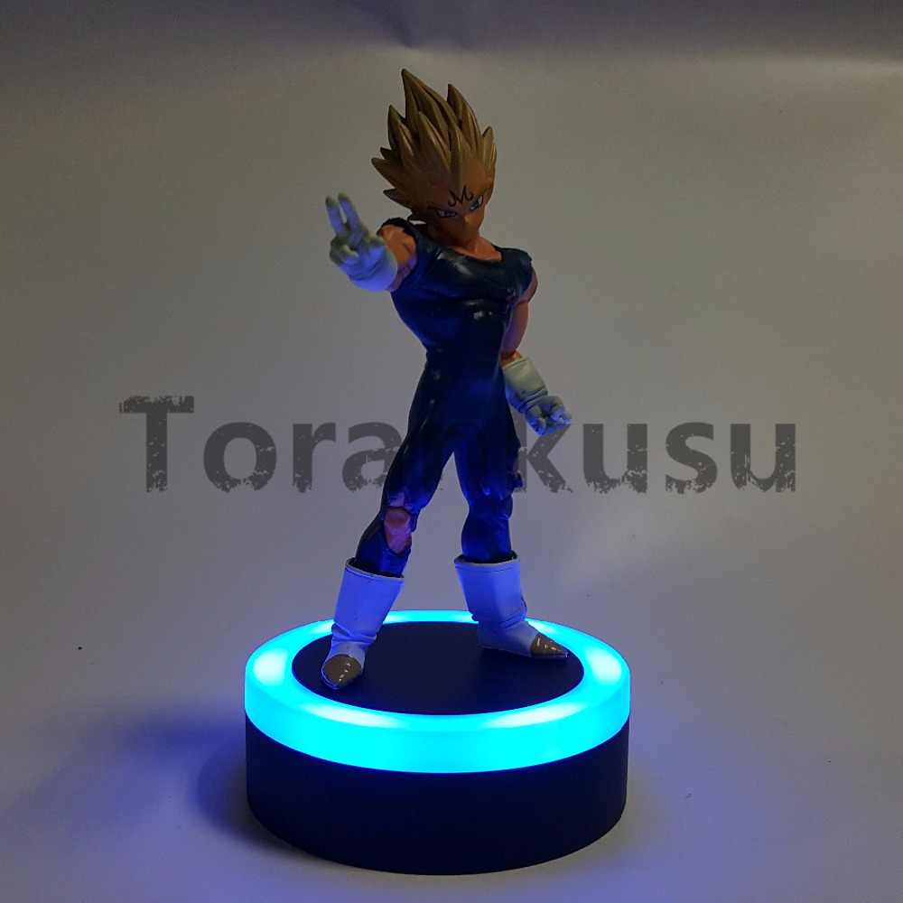 Dragão bola figura de ação mal vegeta led base luz pvc dragonball modelo brinquedo anime dragon ball z estatueta vegeta dbz