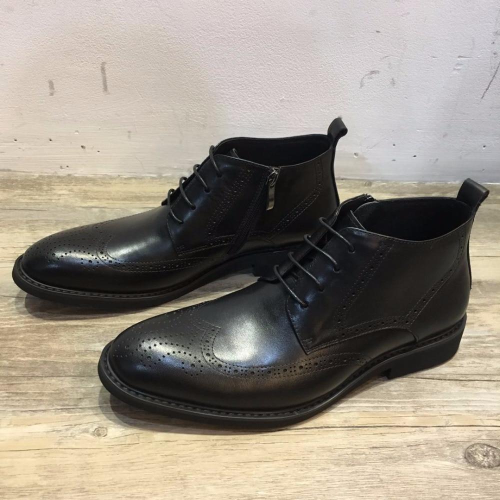 Água Boots Manchado Esculpida Black Botas Ankle Negócio Nova Atualização De Brock Trabalho Sapatos Desai Conforto Luz Couro Homens Casuais Desgaste InFwfqw1