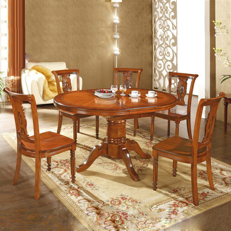 Solid Oak Dining Tables And Chairs: European Solid Wood Dining Tables And Chairs Combination