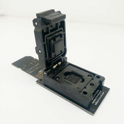 eMMC Reader test socket with SD Interface,Clamshell Structure BGA153 BGA169 Chip Size Pitch 0.5mm for data recovery