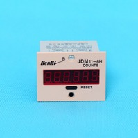 2pcs JDM11 6H Electronic Counter 6 Digits Blackout Memory With Voltage BL11 6H 36V 12V 24V