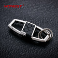 Brands HONEST  Leather Stamping Genuine men keychain bag pendant antioxidant metal car key chain ring holder jewelry bcys-046