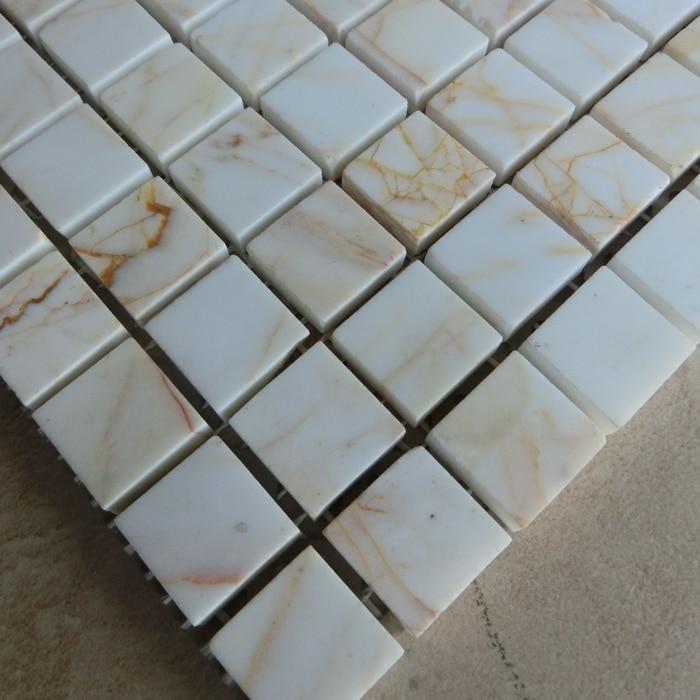 ツ)_/¯15mm azulejos de mosaico de piedra de mármol blanco para ...