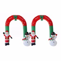 Creative Christmas Garden Decorations Venue Arrangement Props Inflatable Christmas Arch Santa Snowman with LED Lights Wholesale