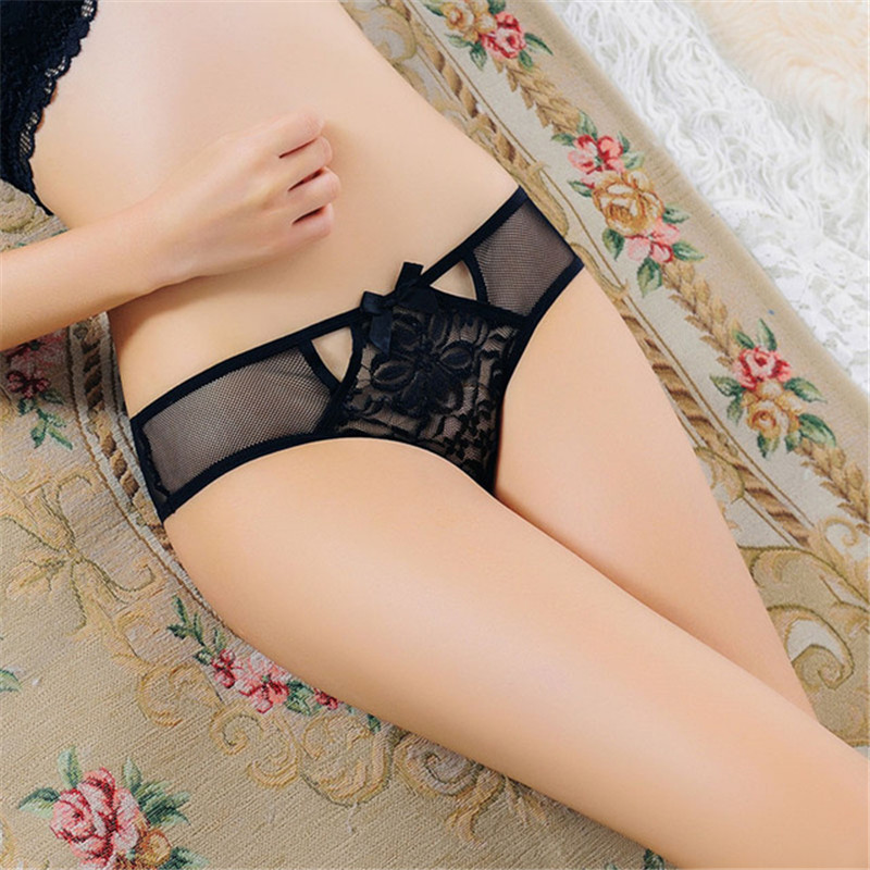 Women Open Crotch Sexy Panties Hot Erotic Lingerie Tangas Women's Underwear Lace Transparent Sex Panties Crotchless Thongs