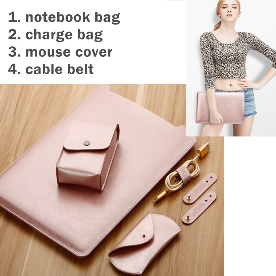 Fashion Sleeve Bag For Microsoft Surface Book 13.5 Inch Tablet Laptop Pouch Case Protective Skin Cover Keyboard Cover As Gift