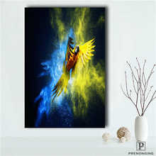 Custom parrot (1) Printing Posters Cloth Fabric Wall Art Pictures For Living Room Decor#18-12-10-18-103(China)