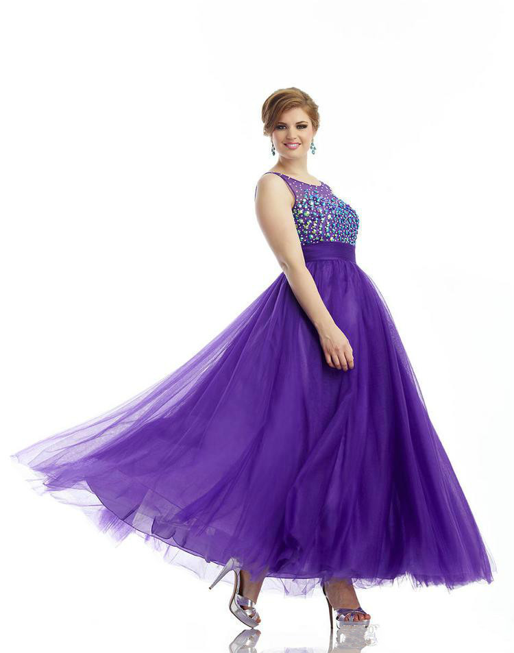 Popular Plus Size Purple Prom Dresses with Sleeves-Buy Cheap Plus ...