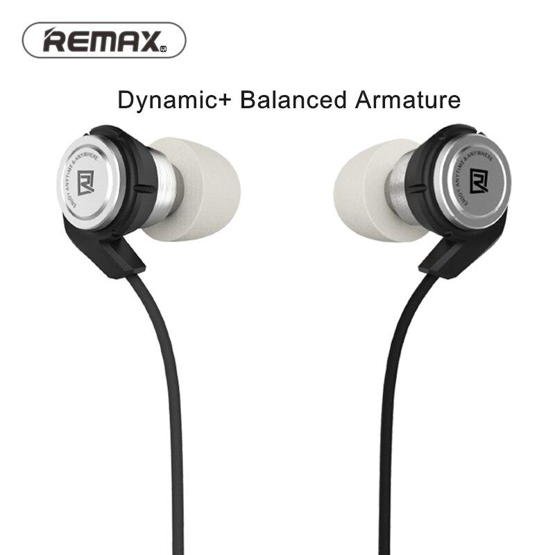 bilder für Remax In Ohr Stereo Wired Moving Coil + balance armture Hybrid kopfhörer mit Musiksteuerung Handy Headset Für IOS & android