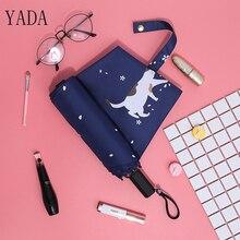 YADA New Cherry Blossom Cartoon Cat Folding Umbrella Rain Women uv High Quality For Brand Umbrellas YS344