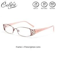 CALIFIT Original Degree Glasses Women Astigmatism Anti Blue Ray Computer Graduated Glasses Women Photochromic Lenses Spectacles