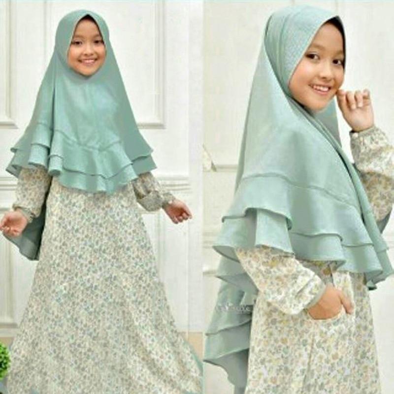 Muslim Kids Abaya Ramadan Children Kaftan Turkey Dubai Arabic Dress Elbise Hijab Dress Caftan Marocain Girl Islamic Clothing