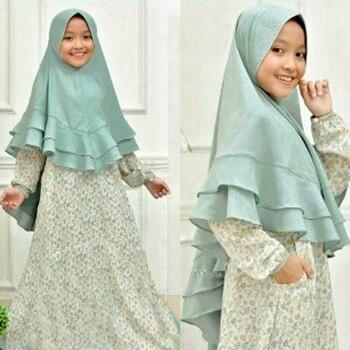 Enfants musulmans Abaya Ramadan enfants Caftan turquie dubaï robe arabe Elbise Hijab robe Caftan Marocain fille vêtements islamiques
